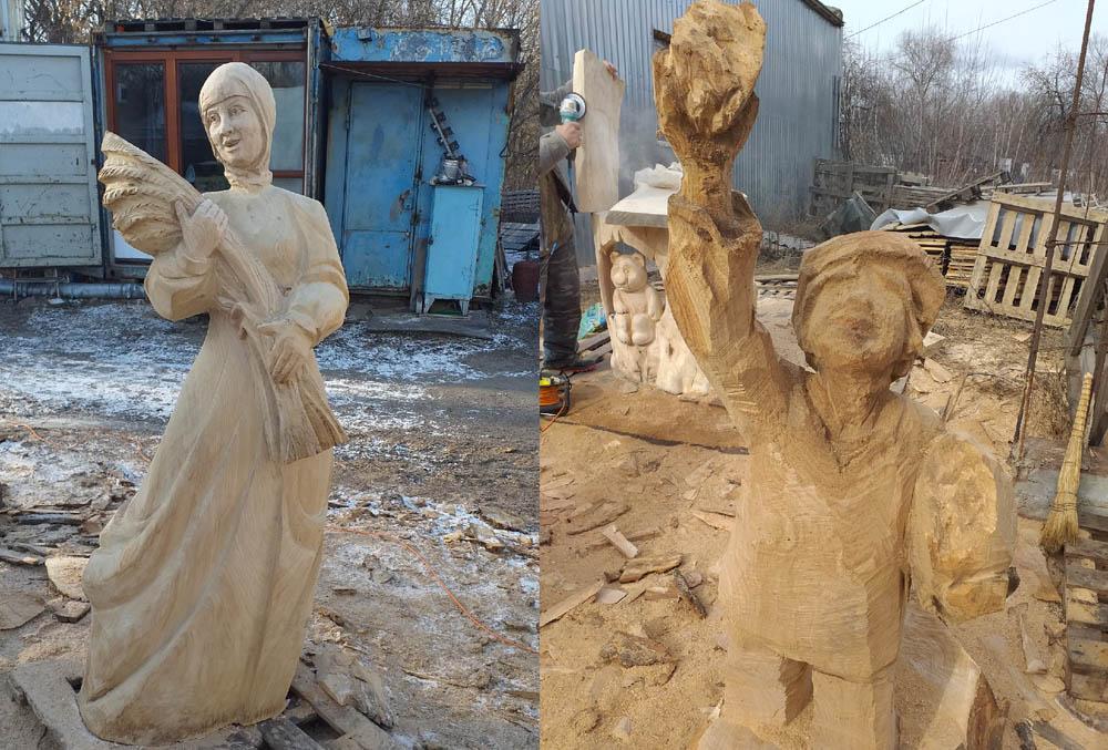 скульптура Алёнушка и Иванушка