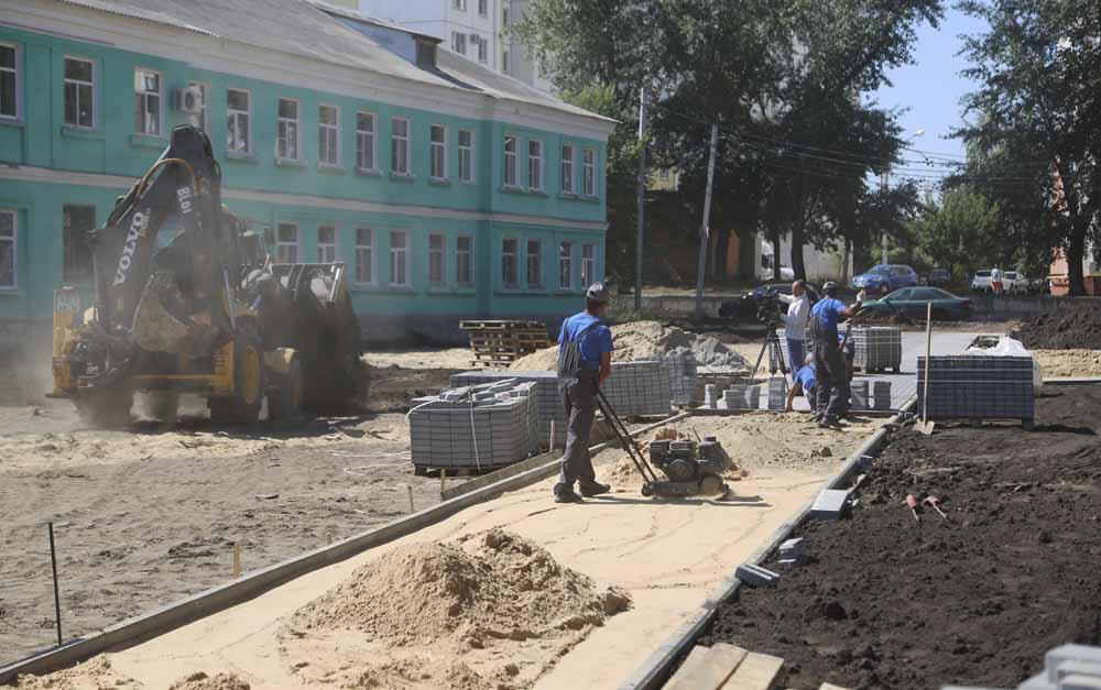 благоустройство сквера Крымский