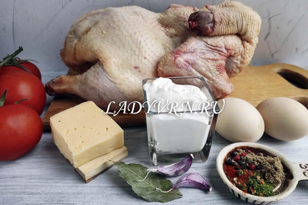 ингредиенты для куриной запеканки