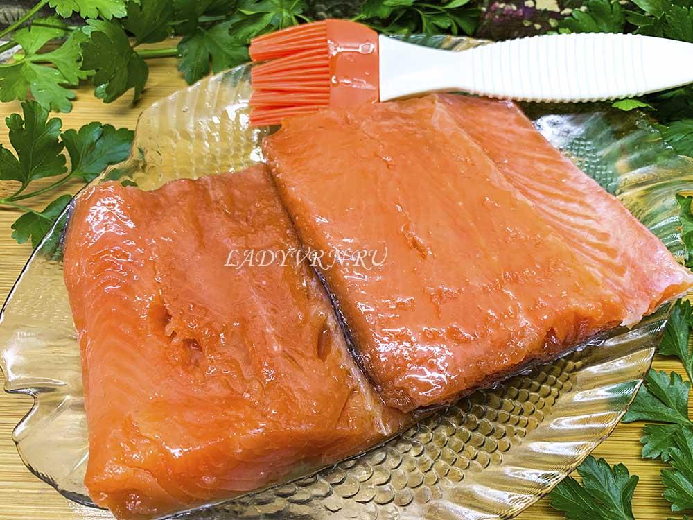 промасливание соленой рыбы