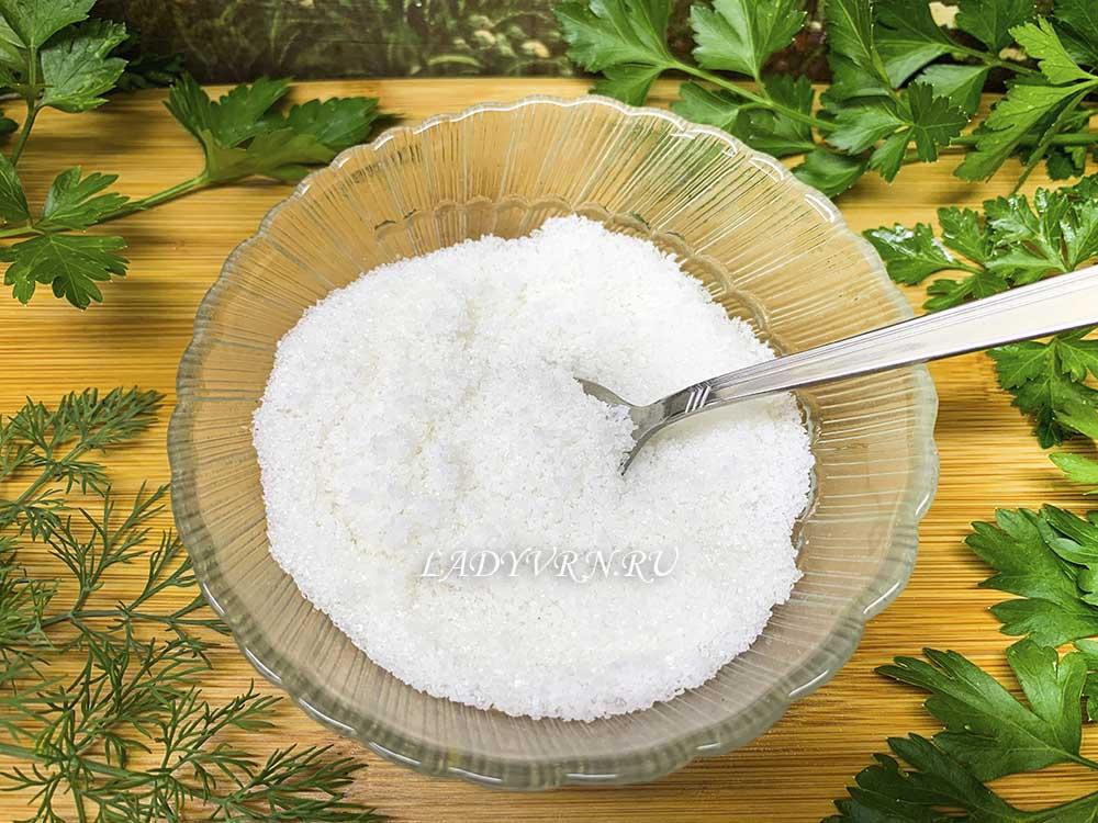 соль и сахар для засолки семги