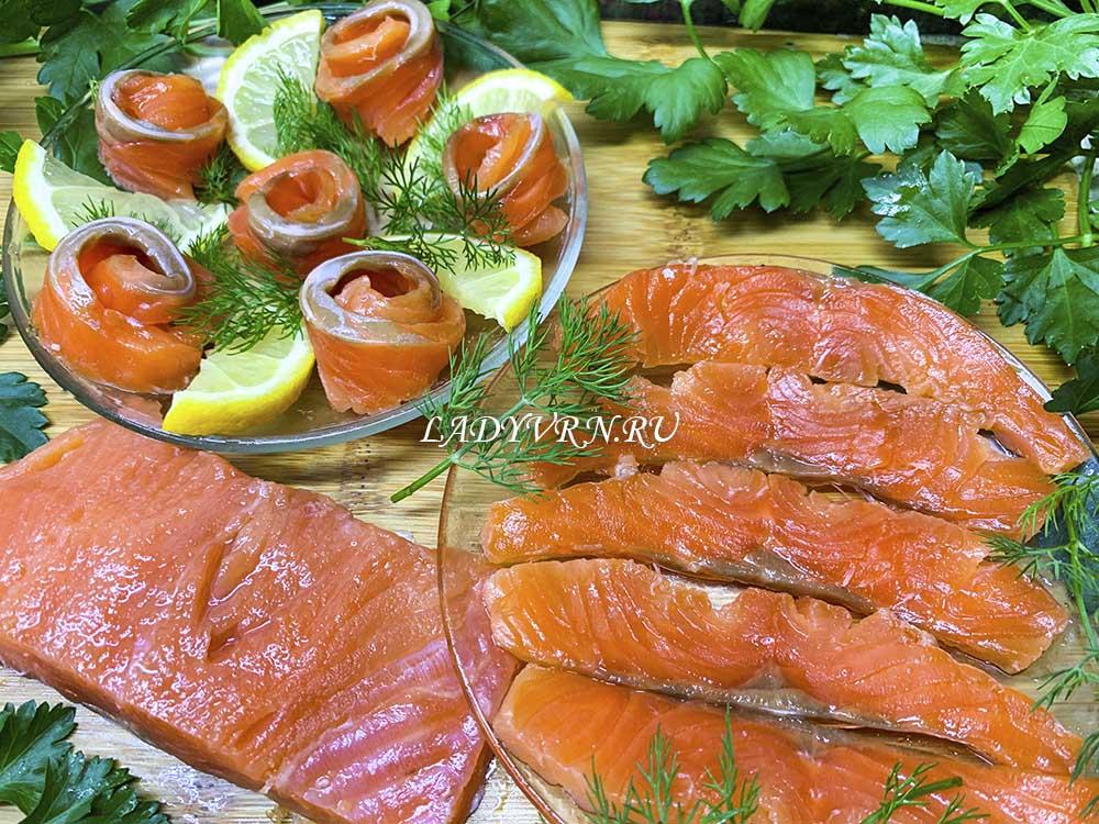 закуски из соленой рыбы